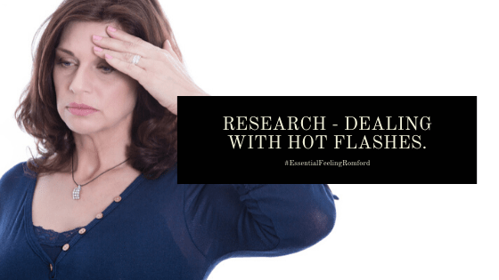 If you're dealing with hot flashes treat hot flushes with complementary therapies