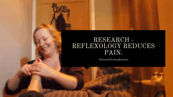 Research shows pain is helped by Reflexology