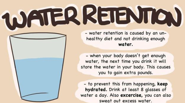 Drink water to reduce water retention