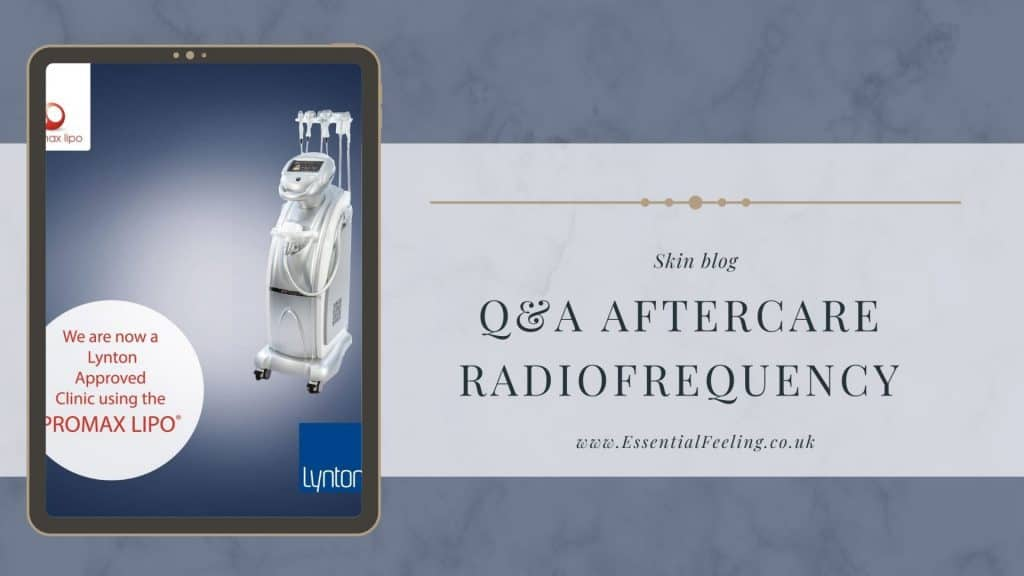 Radiofrequency — aftercare notes and Q&A for patients